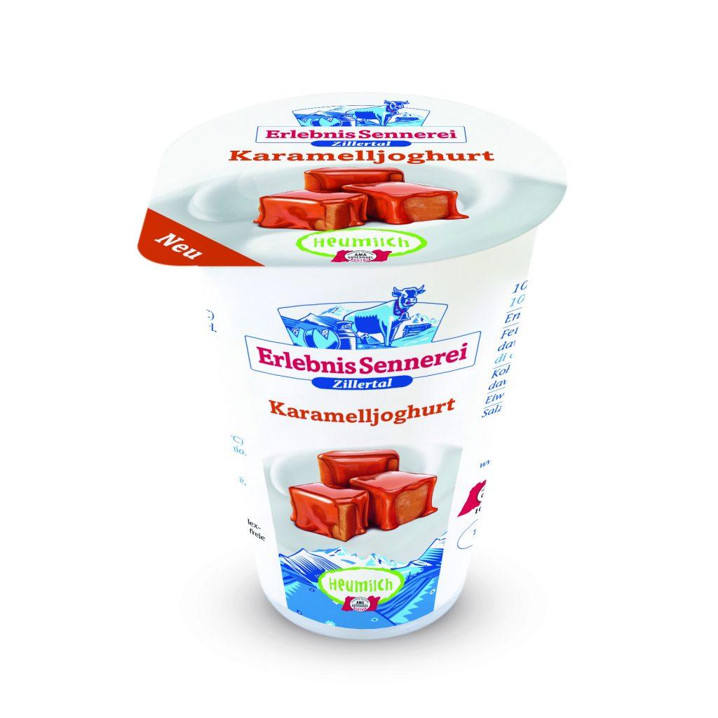 Joghurt Heumilch Karamell