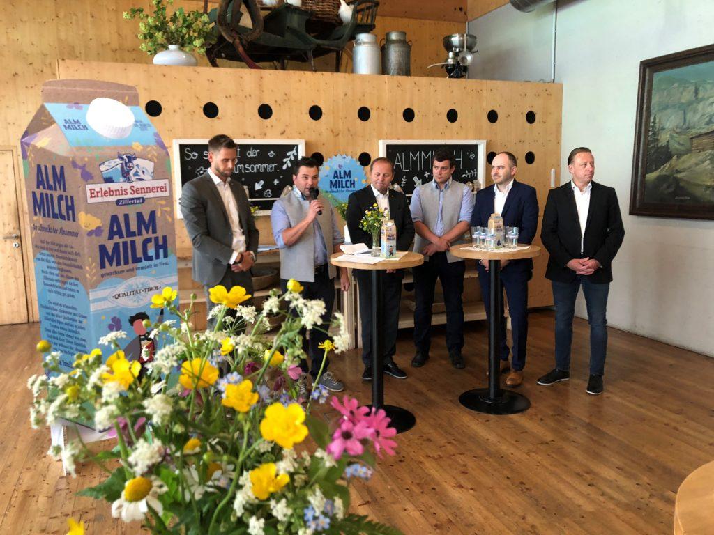 Pressekonferenz Almmilch Erlebnissennerei Zillertal